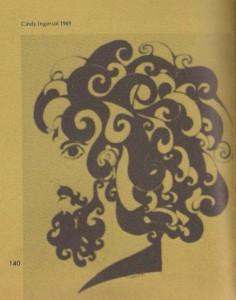 Original Hippie Art in San Gorgonio Yearbook - 1969