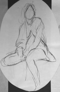 Live Model Sketch - 5 minutes