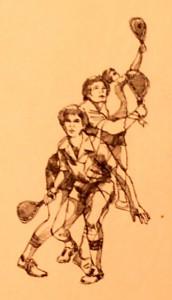 Athletic Club Brochure Sketch - 1980