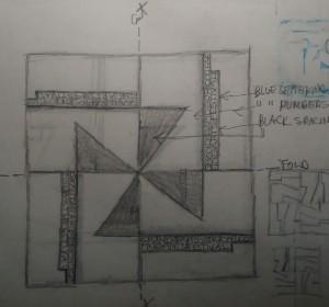 Sketch for Grand Rapids Jr College 1971 Fine Arts Festival