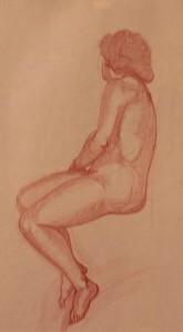 Model Nude Sketch - 1 hour