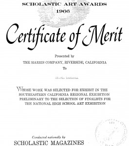 National High Schools Certificate Of Merit
