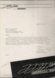 James Jean Letter - 1981